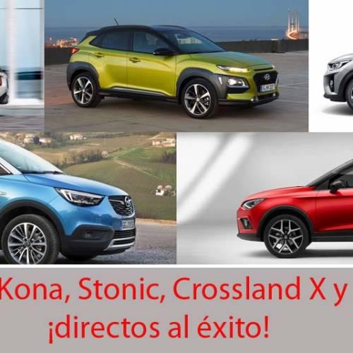 Arona, Kona, Stonic, Crossland X, C3 Aircross: los mini SUV que se pondrán de moda