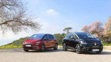 Renault Scénic DCI 110 o Citroën C4 Picasso BlueHDI 120 frontal