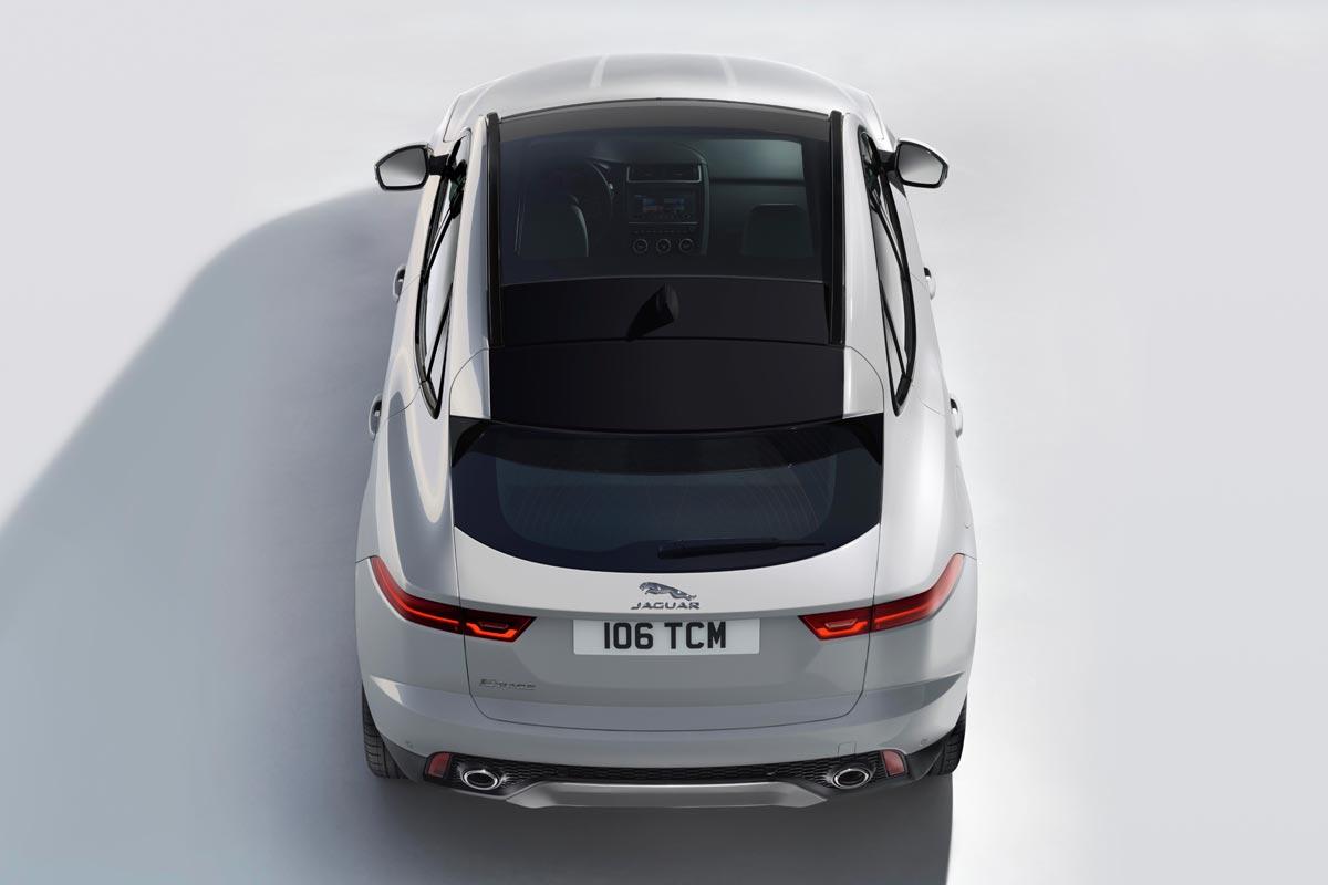 Jaguar E-PACE desde arriba