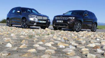 BMW X5 30D o Jeep Grand Cherokee 3.0 V6 D: los dos frontal