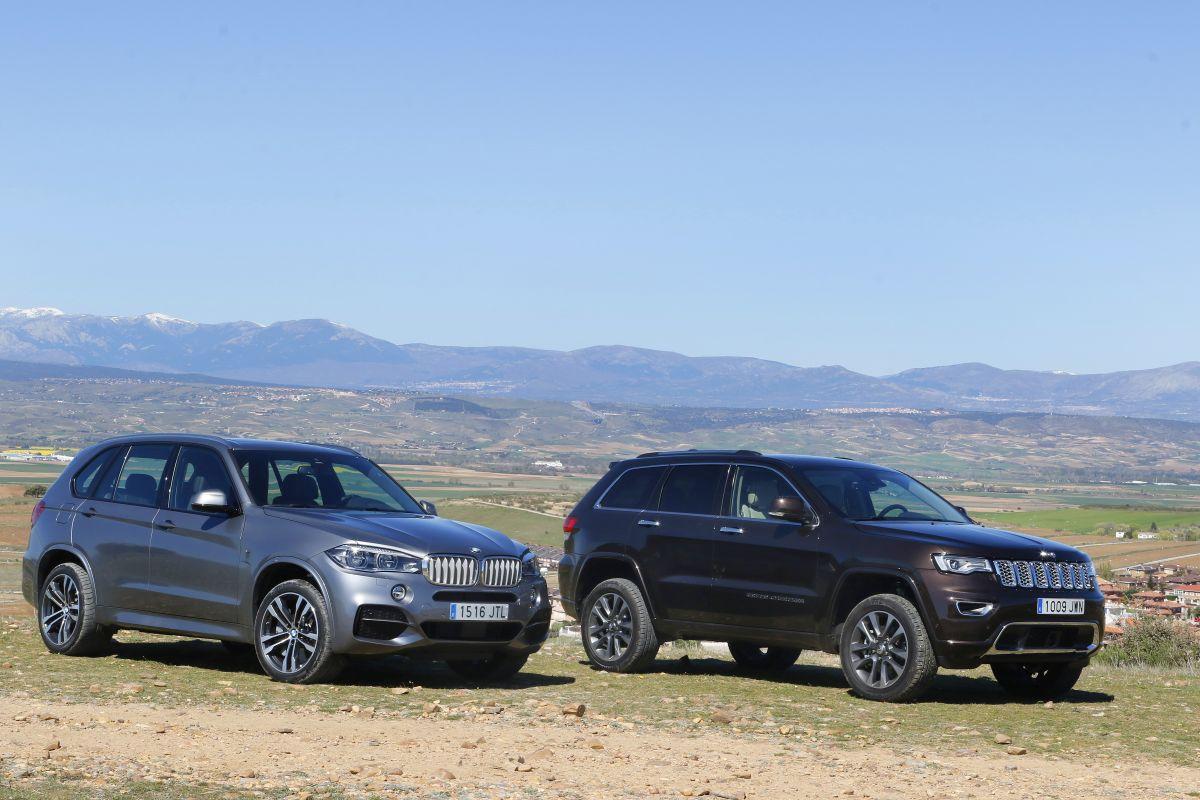 BMW X5 30D o Jeep Grand Cherokee 3.0 V6 D: comparativa (fotos)