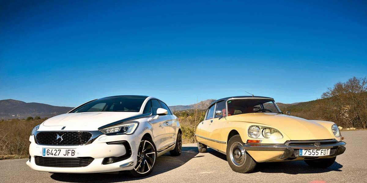 Citroën D Super 1974 vs DS 5 Hybrid: comparativa