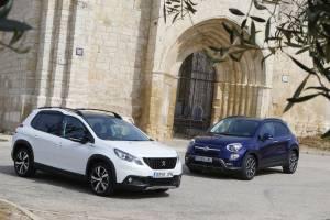 Peugeot 2008 1.6 BlueHDI 120 CV contra Fiat 500X 1.6 Multijet 120 CV