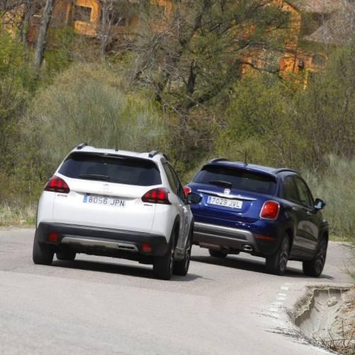 Peugeot 2008 1.6 BlueHDI 120 CV contra Fiat 500X 1.6 Multijet 120 CV: comparativa