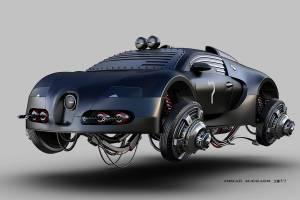 Bugatti Veyron aerodeslizador