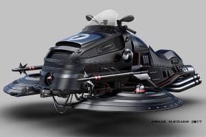Motocicleta aerodeslizadora