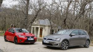 Volkswagen Golf GTE o Lexus CT 200h: comparativa (fotos)