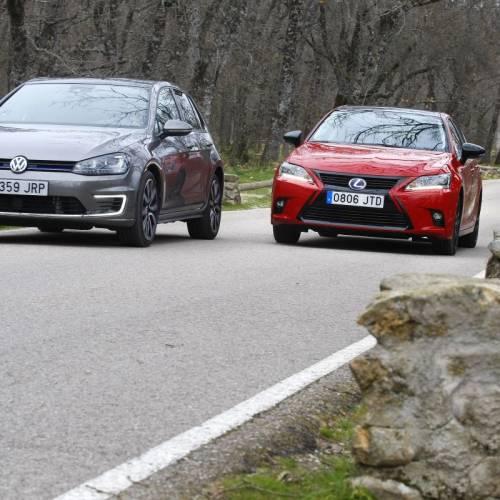 Volkswagen Golf GTE o Lexus CT 200h: comparativa