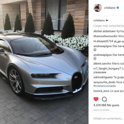 Cristiano Ronaldo estrena su flamante Bugatti Chiron de 2,4 millones de euros
