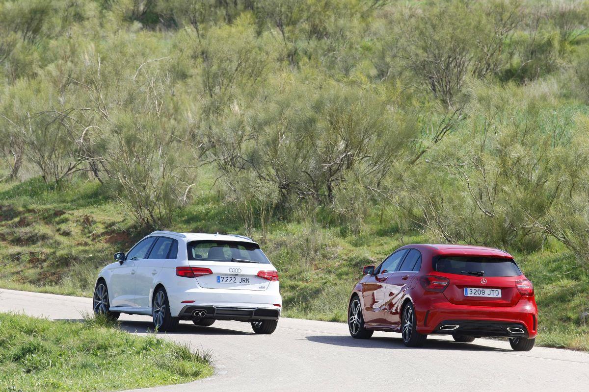 Audi A3 Sportback 2.0 TDI 150 CV o Mercedes Clase A 200 D traseras