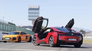 Audi R8 V10 Plus o BMW i8: comparativa (fotos)