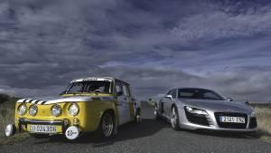 Renault 8 TS contra Audi R8: comparativa imposible (fotos)