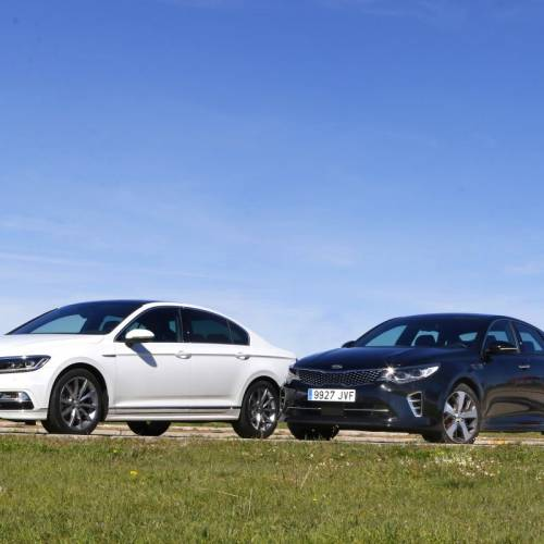 Volkswagen Passat Sport 2.0 TSI 280 CV o Kia Optima GT 2.0 T-GDI 245 CV: comparativa