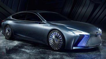 Lexus LS+ Concept lateral parrilla
