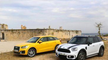 Audi Q2 1.4 TFSI o Mini Cooper Countryman. Los dos frontal