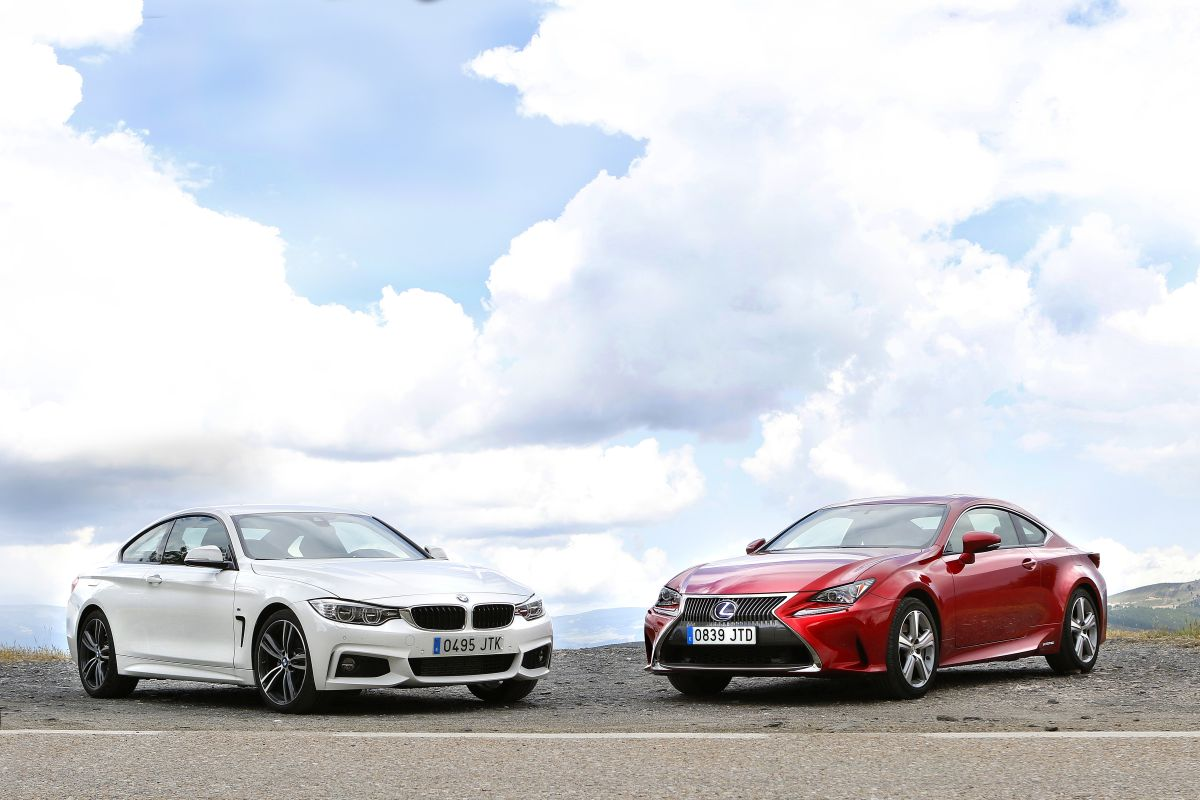 BMW 420d Coupé o Lexus RC 300h. Los dos tres cuartos delantero
