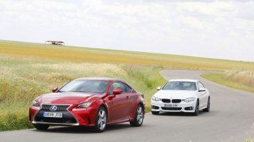 BMW 420d Coupé o Lexus RC 300h. Los dos en movimiento