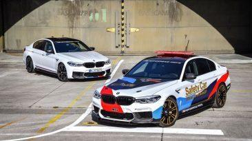 BMW M5 2018 Safety Car de Moto GP. Junto al M5 de serie