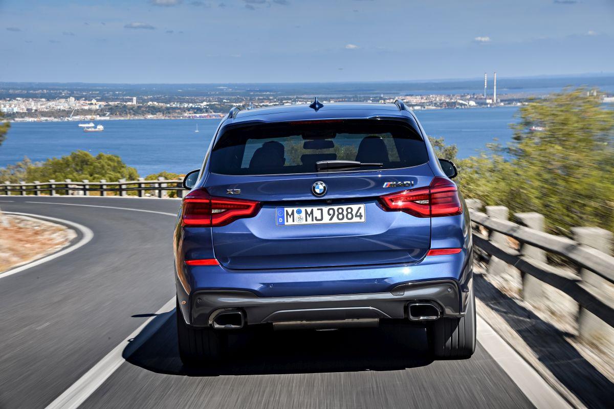BMW X3 2018: trasera