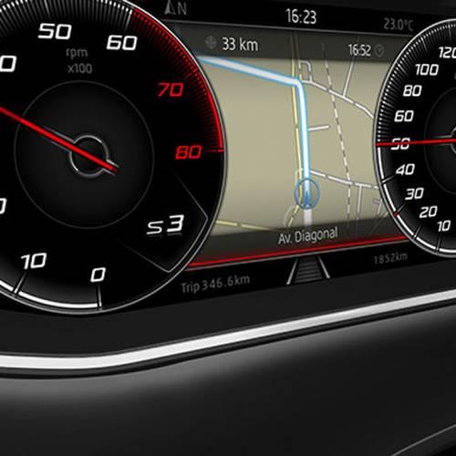 La instrumentación digital configurable llega a los SEAT León y Ateca