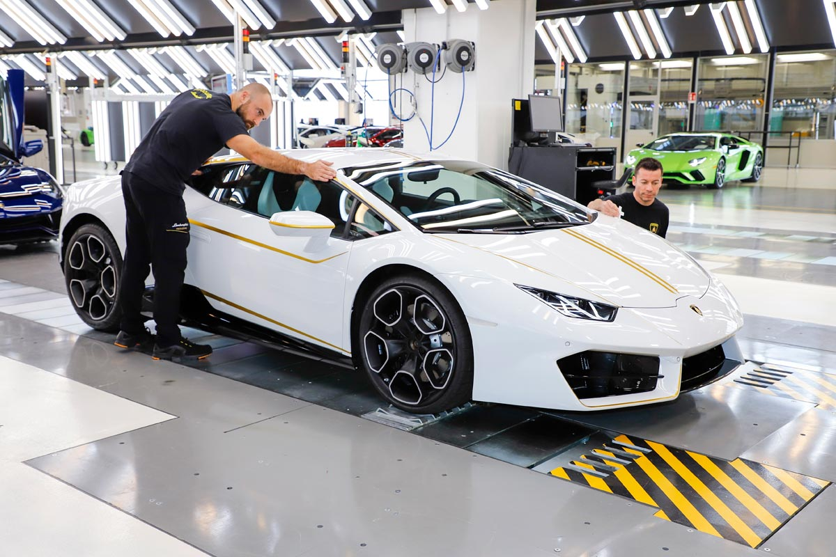 Lamborghini Huracan del Papa Francisco fabricacion