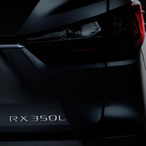 Lexus RX 350L: el RX más grande debutará en el Salón de Los Ángeles