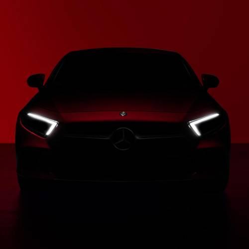 Mercedes-Benz CLS Coupe 2019: teaser de la berlina alemana