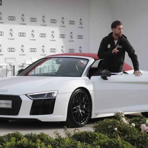 Audi entrega sus vehículos a la plantilla del Real Madrid