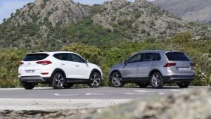 Hyundai Tucson 2.0 CRDI 136 CV o Volkswagen Tiguan 2.0 TDI 150 CV: comparativa (fotos)