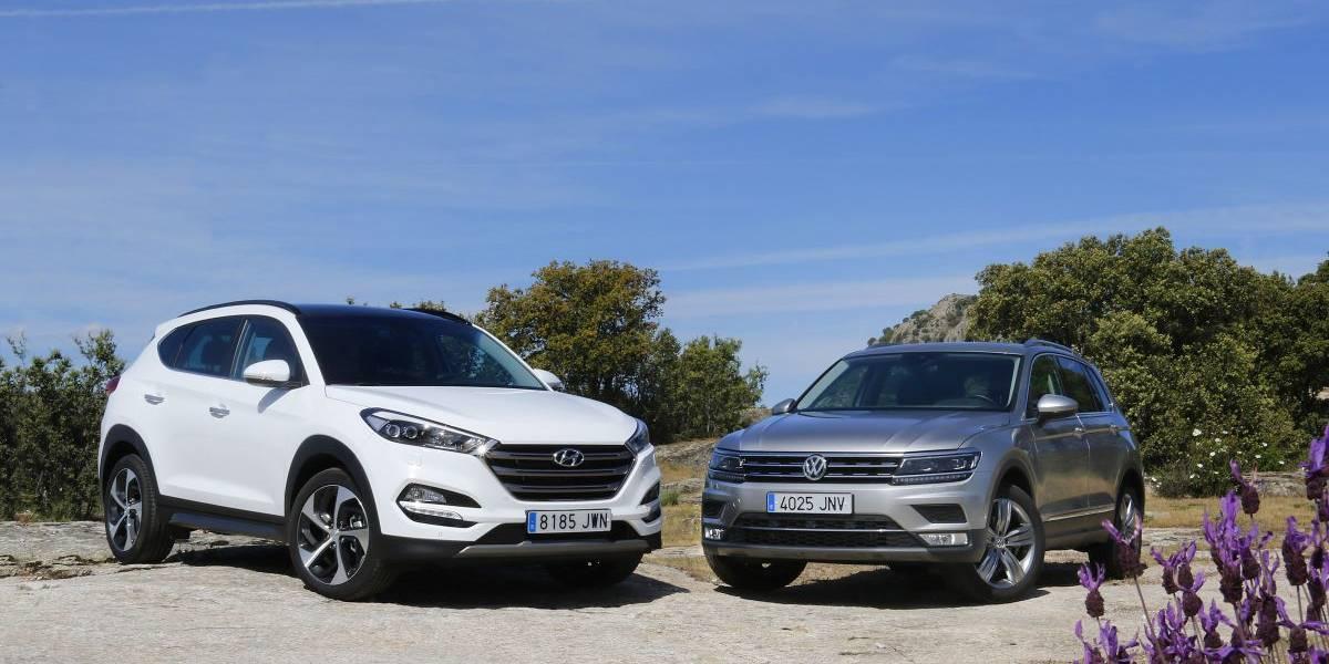 Hyundai Tucson 2.0 CRDI 136 CV o Volkswagen Tiguan 2.0 TDI 150 CV: comparativa