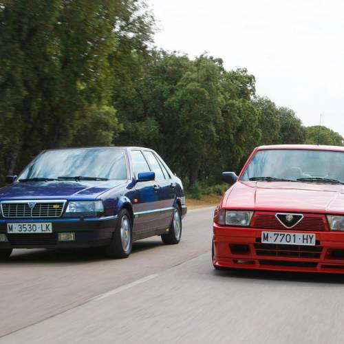Lancia Thema 8.32 vs. Alfa Romeo 75 1.8 Turbo Evoluzione: comparativa