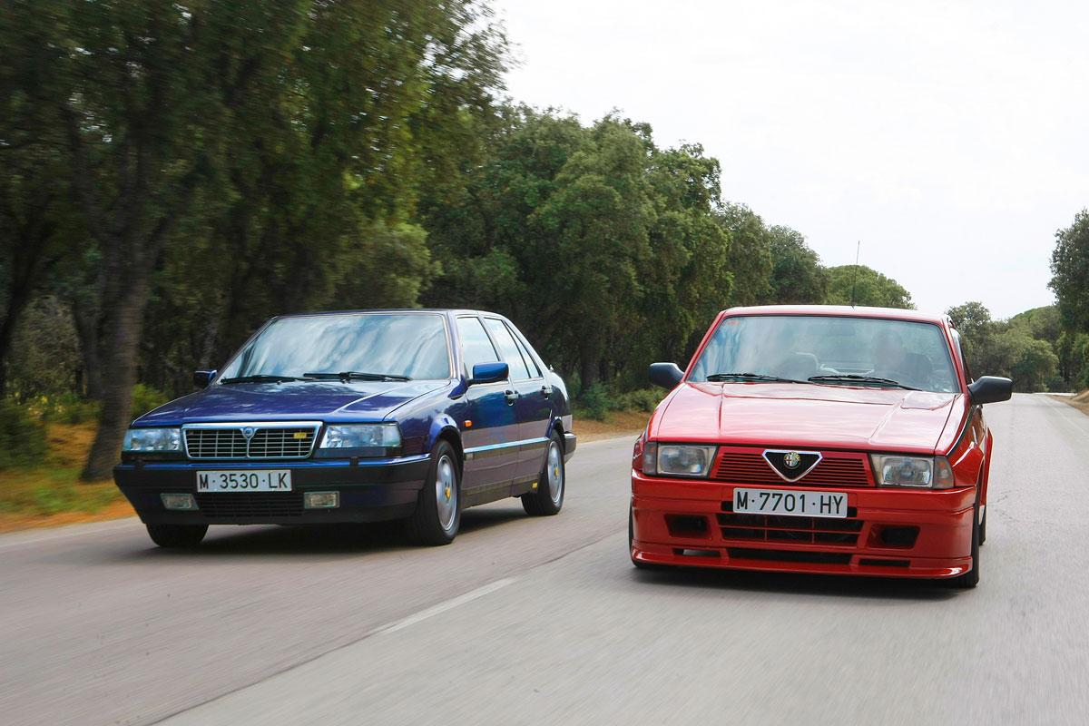 Lancia Thema 8.32 vs. Alfa Romeo 75 1.8 Turbo Evoluzione (fotos)