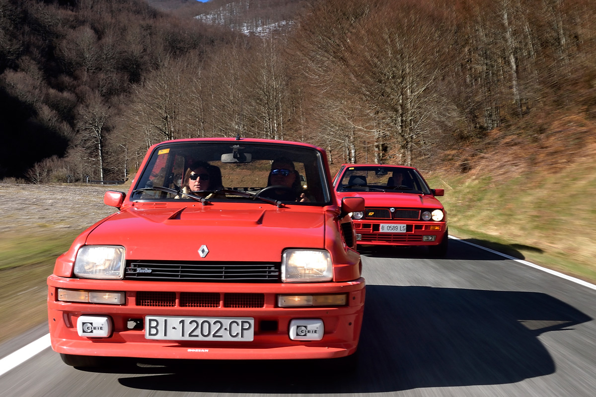 Comparativa clásica: Renault 5 Turbo 2 vs. Lancia Delta HF Integrale 16v (fotos)