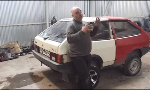 Crean en Rusia un tanque a partir de dos Lada Samara (y hay vídeo que lo demuestra)