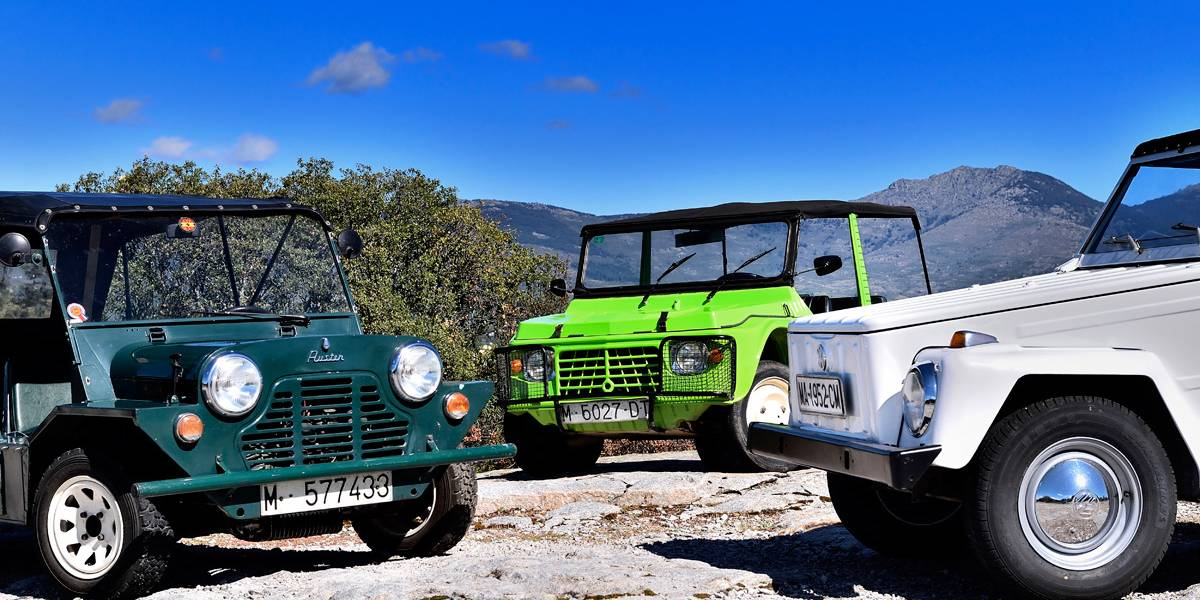 Playeros: Especie en extinción. VW Tipo 181 vs. Mini Moke vs. Citroën Mehari