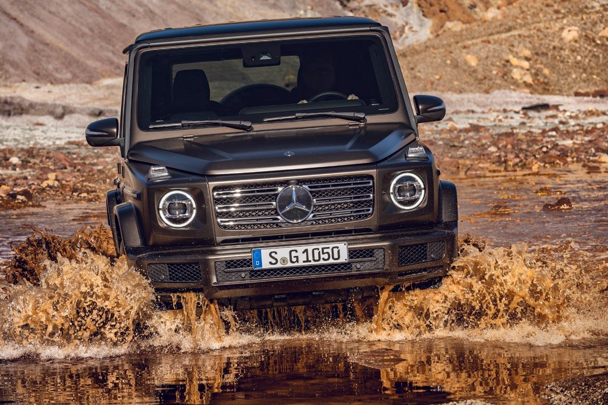 Mercedes-Benz Clase G 2018 frontal agua