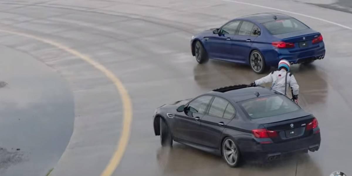 Así se reposta un BMW M5 haciendo drifting
