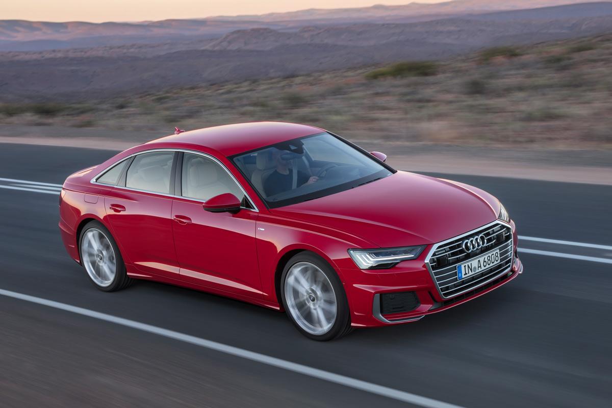 Audi A6 2018, tres cuartos delantero