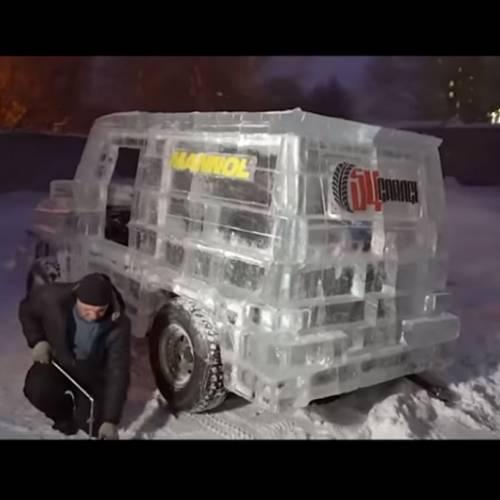 El coche de hielo que circuló durante casi 20 días