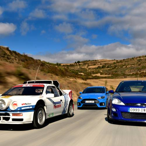 Ford RS200 Evo vs. Focus RS MKI vs. Focus RS 2016. Estirpe de leyenda