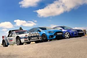 Ford RS200 Evo vs. Focus RS MKI vs. Focus RS 2016