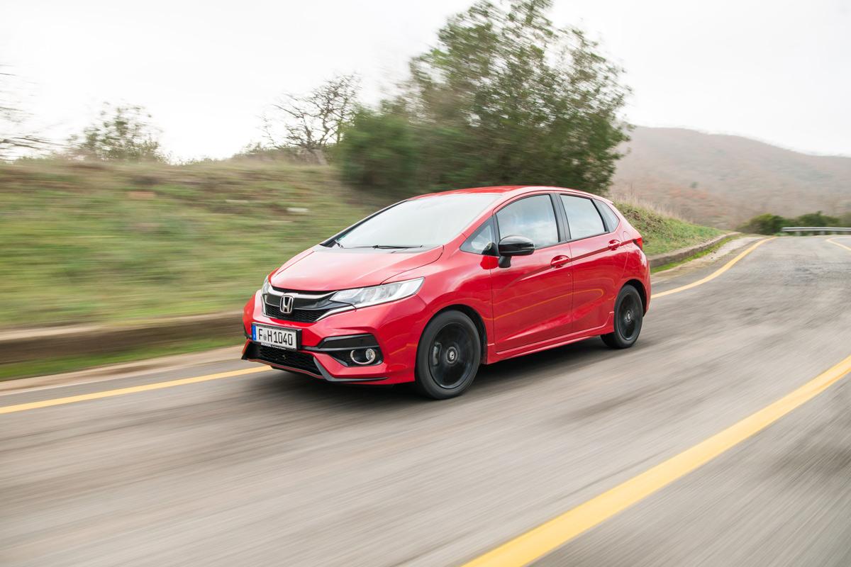 Prueba Honda Jazz 2018, lateral dinámica