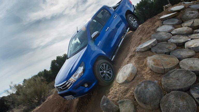 Prueba Toyota Hilux 2018, rampa