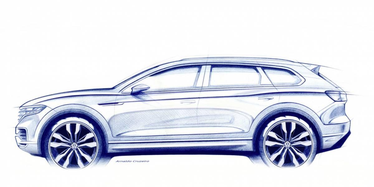 Volkswagen Touareg 2018, primera imagen oficial antes de su debut en Pekín