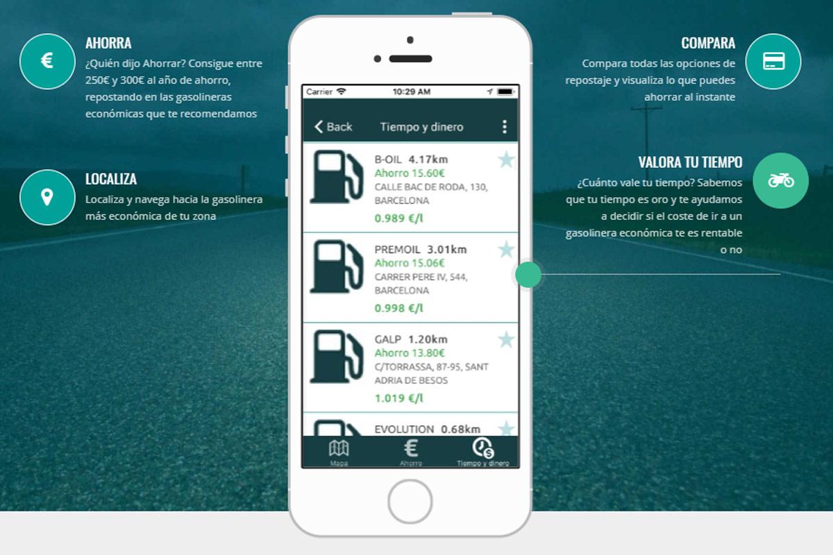 Aplicación Gasport ahorro tiempo dinero