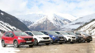SUV Peugeot, winter test