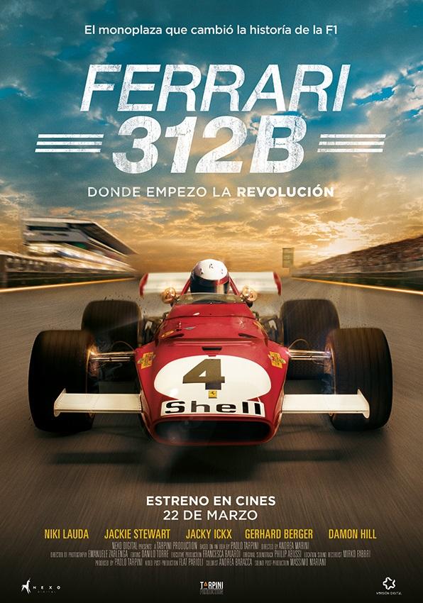 Cartel documental Ferrari 312B.