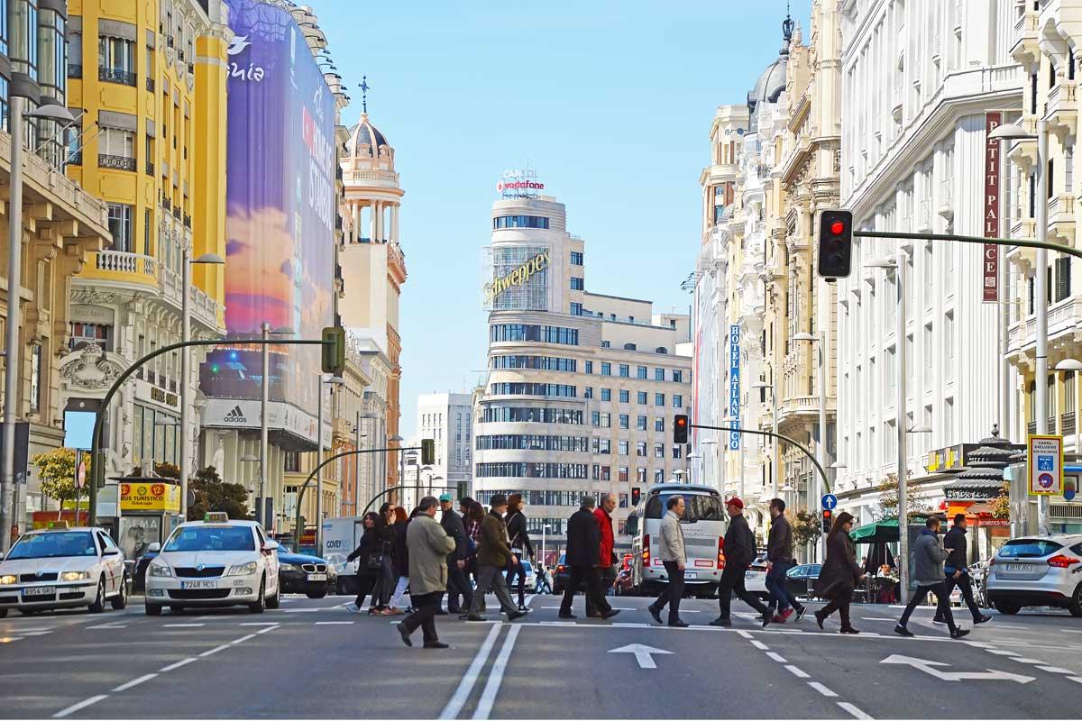 Gran Vía Madrid peatonal