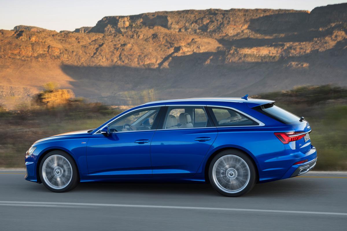 Audi A6 Avant 2018, lateral