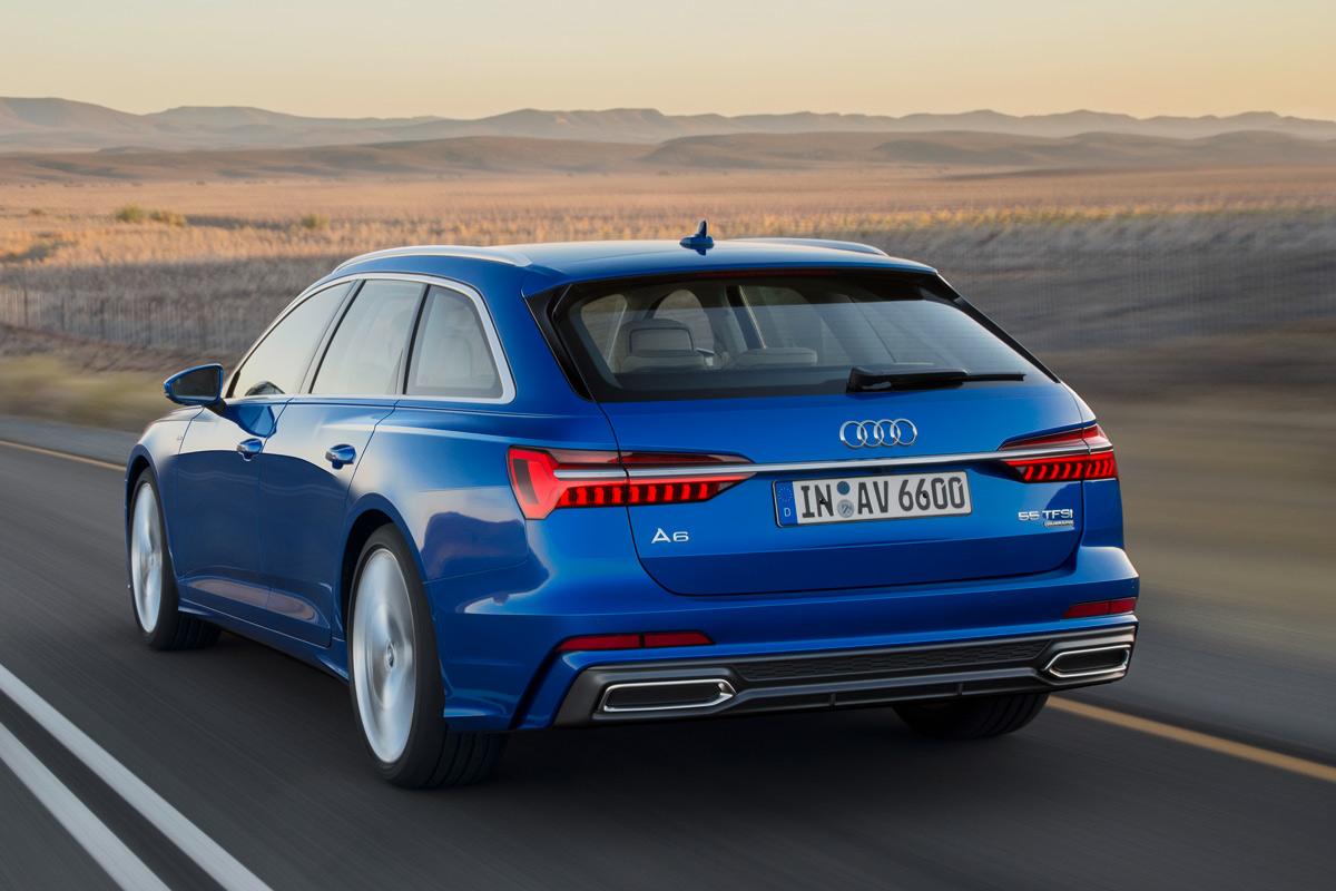 Audi A6 Avant 2018, tres cuartos trasero